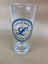 Lewis Brewing Company Pint Beer Lager Glass Extremely Rare- FSTSHP