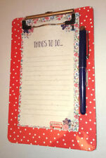 I Love London CLIPBOARD NOTEPAD & PEN GIFT SET Things To Do.. 60 Sheets RED BLUE