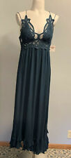 Free People Adella Lace Maxi Dress Size XS In (Turquoise) Msrp $128.