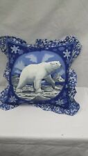 "Polar Bear 16"" Throw Pillow"
