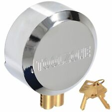 Heavy Duty Chrome Plated Steel 73mm Round Concealed Padlock With 2 Brass Keys