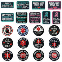 Embroidered patches Hook Loop transfers Patch Badges Service Dog Many Choices