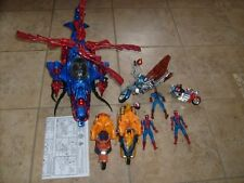 SPIDERMAN FANTASTIC FOUR TORCH LEGENDS FIGURE LOOSE LOT SPIDERCOPTER SPIDERCYCLE