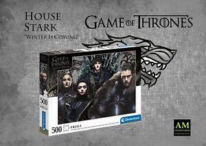 Clementoni - Game Of Thrones Puzzle - House Forte 500 Parti - Nuovo / Confezione