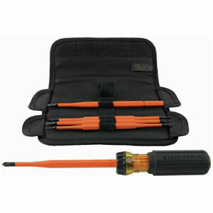 Klein Tools 32288 6-Pc 8-in-1 Insulated Interchangeable Screwdriver Set New
