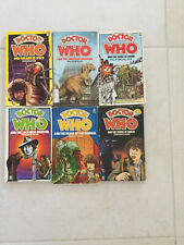 BULK LOT 1970s Vintage Doctor Who Books X 6