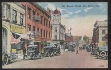 POSTCARD SAN PEDRO CA BEACON ST STANDARD GROCERY & BUSINESS STORE FRONT 1907