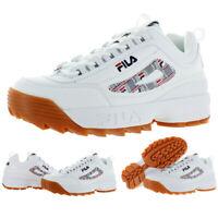Fila Mens Disruptor II Haze White Leather Sneakers Shoes 10 Medium (D) BHFO 8698