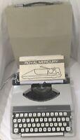 Royal Mercury ultraportable typewriter: w/case  & manual *Works* Made in Japan