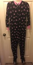 DISNEY MINNIE MOUSE ONE PIECE FOOTED FLEECE PAJAMAS ADULT SZ Small