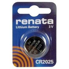 Renata CR2025 Lithium Watch / Key / Gadget Battery 3v Blister Packing