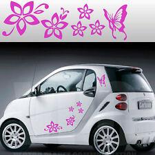 stickers adesivi adesivo tuning fiori farfallina farfalle auto smart mini a0010