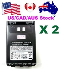 US/CAD/AUS,2xG-103LI Battery for Yaesu VX8R/8DR/8GR,FT1DR/XDR,FT2DR,FNB101LI/102