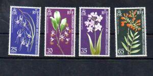 Stamps of  New Hebrides 1973 # 190-193 MNH Flowers set