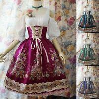 Lolita Dress Cosplay Women Princess Sweet Girl Tutu Party Evening Gown Plus Size