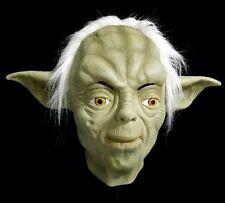 Deluxe Látex Verde Yoda Máscara espacio Película De Calidad De Lujo Fiesta Disfraz guerras