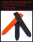 Silicona Pulsera de reloj calidad superior en Negro 18mm
