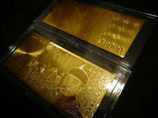 GOLD 10000 WON KOREA BANKNOTE  BILL -COMES IN ACRYLIC ,SLAB GIFT HOLDER
