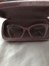 905db248bee Miu Miu VMU 03Q SQT-1O1 Transparent Pink Semi Rimless RX Eyeglasses NIB 51MM