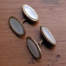 Vintage Art Deco Mother Of Pearl Mens Link Cufflinks