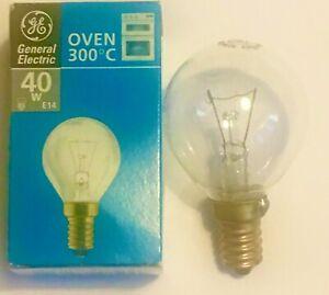 Oven Bulb Lamp 300°C Cooker Appliance Light 40W 240V E14 SES GE