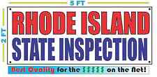 RHODE ISLAND STATE INSPECTION Banner Sign NEW SIZE Best Quality for the $$