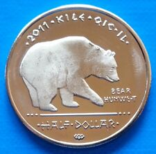 Los Coyotes Indian Tribe 50 cents 2011 UNC Bear Wolf USA unusual coinage