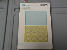 QUICKUTZ LIFESTYLE SEQUENCE 2 EMBOSSING FOLDERS A2 EF0014 NEW A1359
