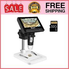 Coin Microscope 43 Inch Lcd Digital Microscope With 32gb Tf Card 10x Black