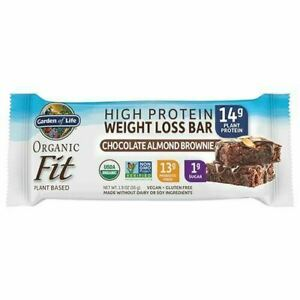 Organic Fit Bar Chocolate Almond Brownie 12 Count