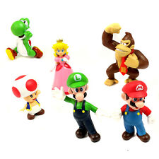 Super Mario Bros Figures Toys - 6 Pcs Set Action Characters
