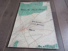 GRAND PLAN MANUSCRIT 1890 FLIREY BOIS DE MORT-MARE MEURTHE ET MOSELLE