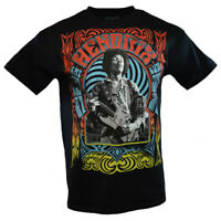 JIMI HENDRIX Mens Tee T Shirt Rock Music Guitar Vintage s Sleeve Black NEW