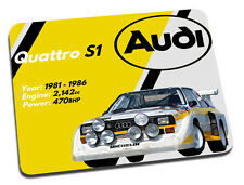 AUDI Quattro Rally Auto Tappetino Mouse