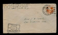 AUG 20 1944 317th Infantry APO#80 New York cover sent to La Crosse, VA
