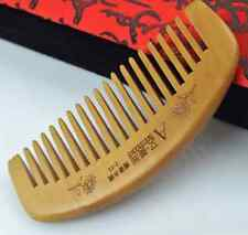 Natural Wide Tooth Peach Wood no-static Massage Hair Wood Comb Healthy Care