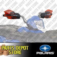 NEW POLARIS SPORTSMAN SCRAMBLER XP HO EPS OEM RED HAND WIND GUARDS W/ MOUNTS