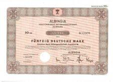 Albingia Versicherungs AG  50DM  Hamburg 1979