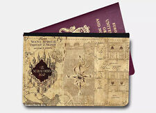 Marauders Map Harry Potter Passport Cover Holder Leather Printed Holiday Travel