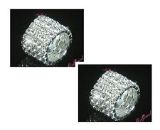 Silver Tone Clear Crystal Diamonte / Diamante 5 Row Stretchy Ring - BRAND NEW!!