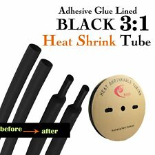 Black Heatshrink Glue Lined Heat Shrink Electrical Wire Insulation Tubing Cable