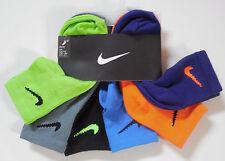 Nike Kids Boys Quarter Socks~6 Pr Sz 6/7~Shoe Sz 13C-3Y~Black/Gray & Ass't Color