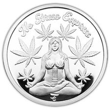 No Stress Express Sexy Girl It's Always 420 1 oz .999 Silver Coin NEW RELEASE