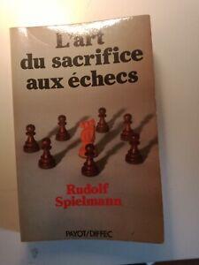 Livre L'art du sacrifice aux échecs de Rudolf Spielmann