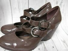 Clarks Wedge Patent Leather Mary Janes Heels for Women