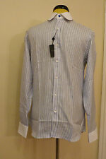 "BNWT Duchamp Chevron Stripe Long Sleeve Shirt. Size 15.5"""