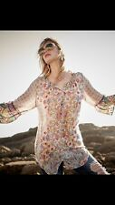NWT Johnny Was Tempo Button Front Rayon Floral Printed  Tunic Top L