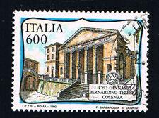 ITALIA 1 FRANCOBOLLO SCUOLE D'ITALIA LICEO B. TELESIO COSENZA 1990 timbrato