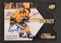 2015-16 UD FULL FORCE IMMEDIATE IMPACT KEVIN FIALA ROOKIE AUTO