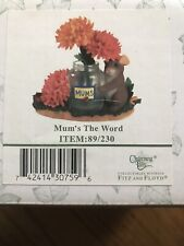 Fitz And Floyd Charming Tails Mum'S The Word Figurine 89/230 In Original Box